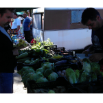 Shopping for produce at the Farmers Market